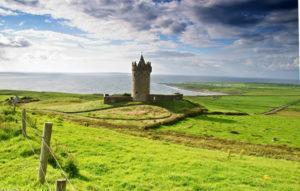 Altes irisches Castle in Doolin, Irland