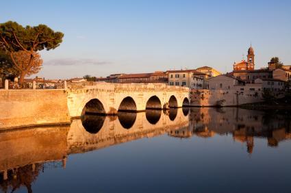 Tiberius Brücke in Rimini, Italien