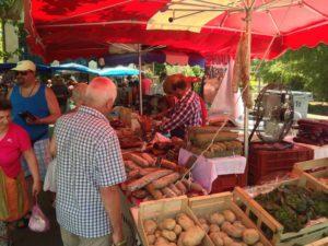 Marktstand in Uzés