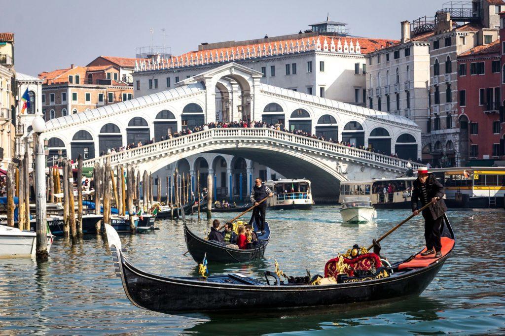 Venedig, Canale Grande und Rialto-Brücke
