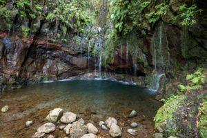 Wasserfall auf der Insel Madeira