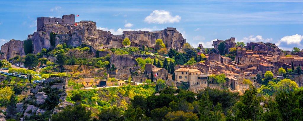 Das Dorf Les Baux-de-Provence in der Provence