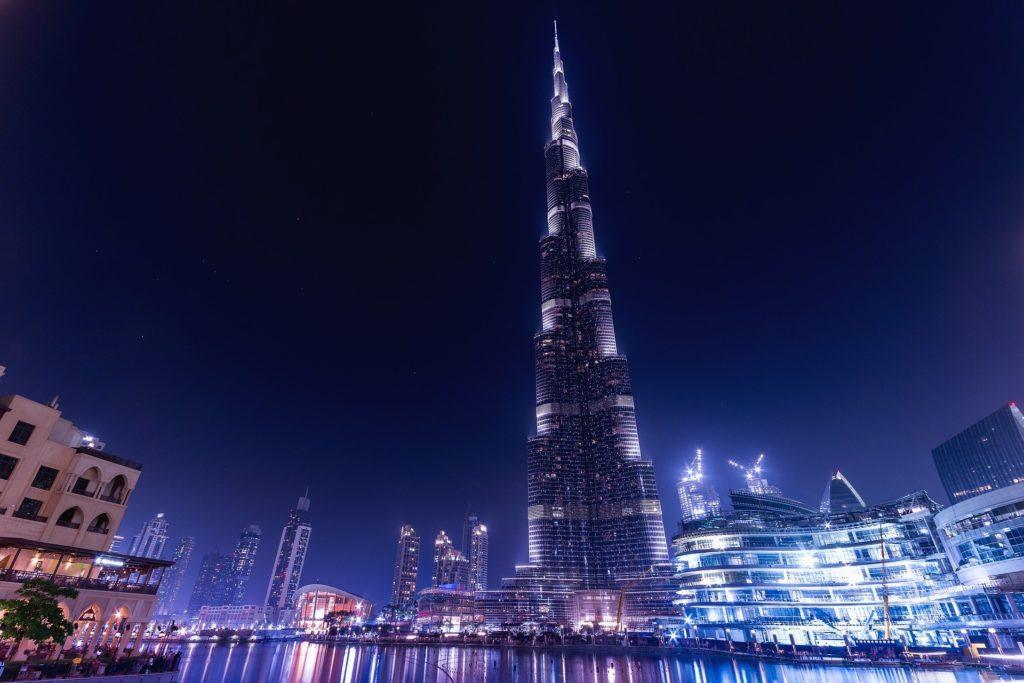 Der Burj Khalifa in Dubai, mit 828 Metern das höchste Bauwerk der Welt
