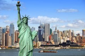 New York, USA - die Freiheitsstatue (Lady Liberty)