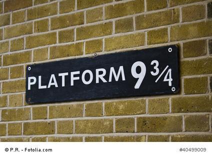 Bahnsteig 9 3/4 aus Harry Potter