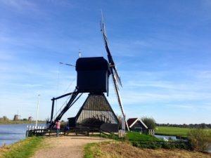 Historische Windmühle in Holland – Kinderdijk