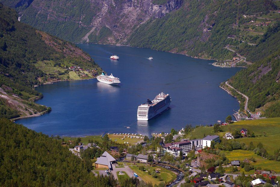 Kreuzfahrt Geirangerfjord Norwegen