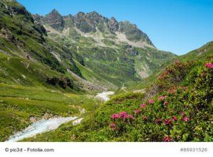 Silvretta-Gebirgsgruppe in Vorarlberg, Österreich