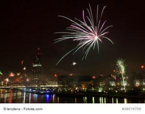 Feuerwerk über Wien