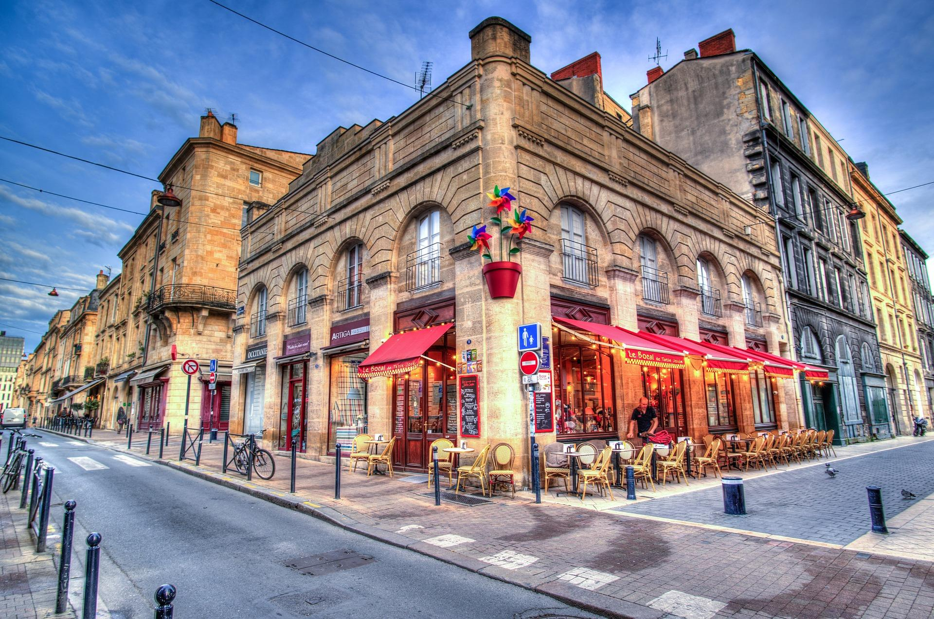 Cafe in Bordeaux, Frankreich