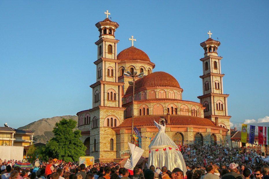 Korça in Albanien