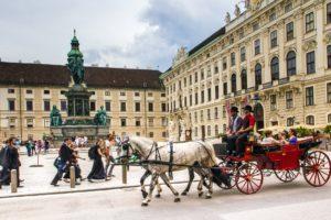 Fiaker-Fahrt in Wien, Österreich