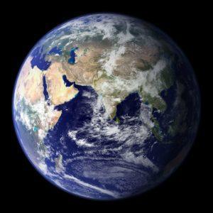 Die Erde aus dem Weltraum gesehen