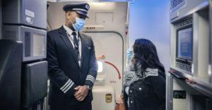 Flugpersonal mit Hygienekonzept