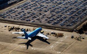 Parken und Fliegen