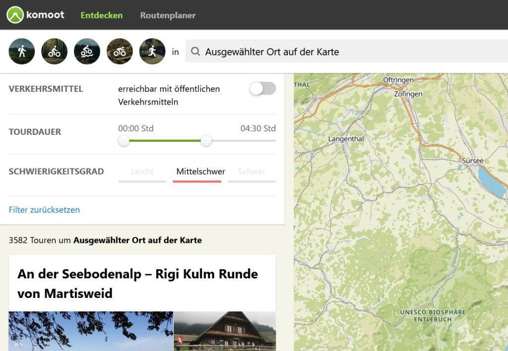 Fahrradweg Routenplaner: Komoot Routenplaner und Navigation - Tour auf der Karte aussuchen