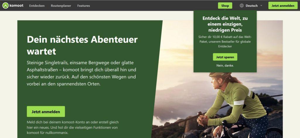 Komoot.de - Routenplanung und Navigation für Outdoor-Aktivitäten