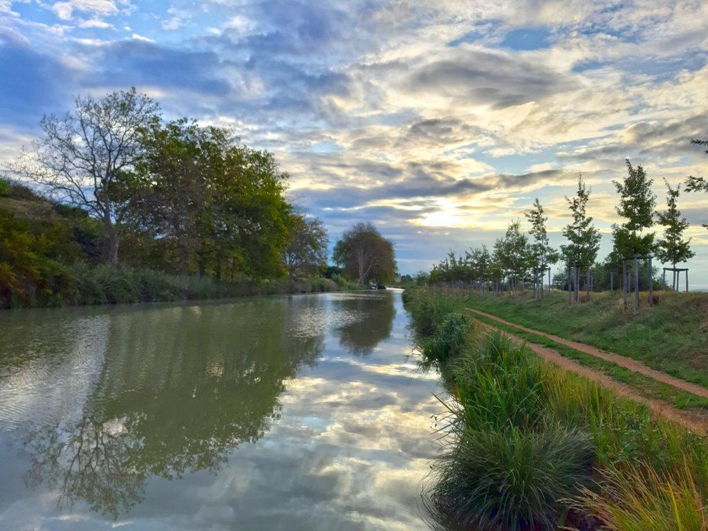 Canal du Midi: der Tag neigt sich dem Ende