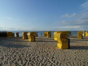 Cuxhaven Strand mit Strandkörben