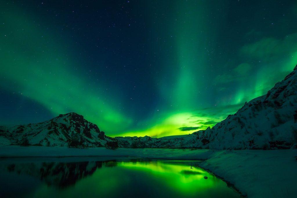 Nordlicht auf Island. Island Urlaub