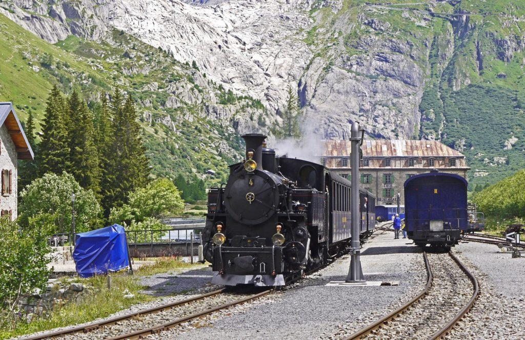 Dampfbahn Furka-Bergstrecke Rhônegletscher