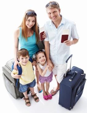 Familie auf Reisen