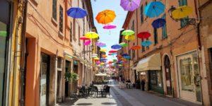 Renaissance-Stadt Ferrara in der Emilia-Romagna