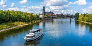 Die Elbe bei Magdeburg, Sachsen-Anhalt